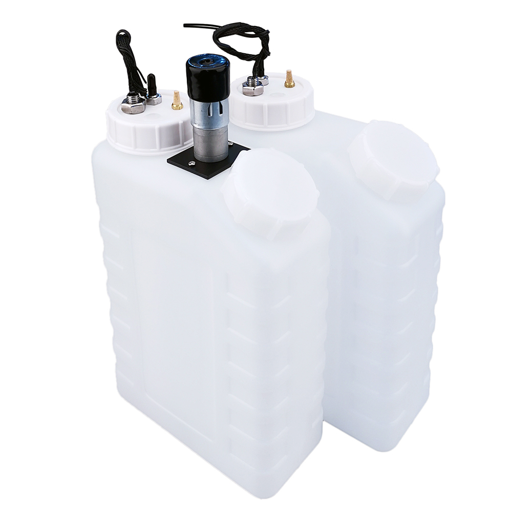 3.5L white sub tank with float / agitator / motor / muffler / single steel pipe