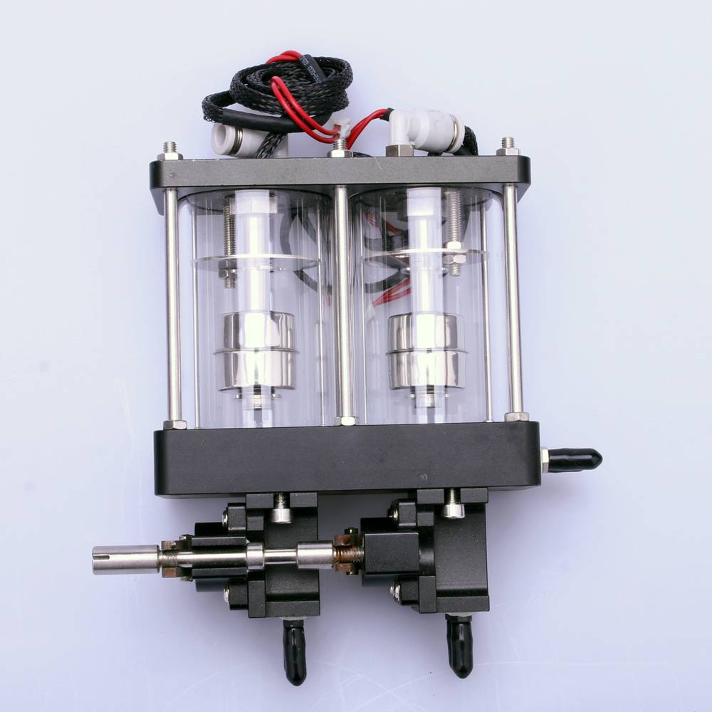 Double glass sub tank 90mm aluminium sub tank with circulation double valves